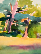 Trees in Late Afternoon SOLD (Prints Available)